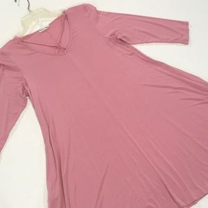 Dresses & Skirts - Pink stretchy tunic dress